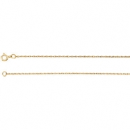 14kt Rose BULK BY INCH Polished ROPE CHAIN