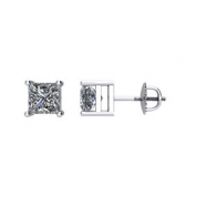 14kt White 1/4 CTW Pair Diamond Stud Earrings