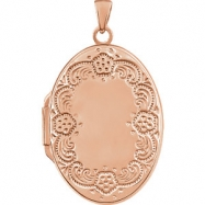 RGPSTER 28.40X19.50 mm Polished Oval Shaped Locket