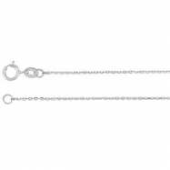 Platinum 18.00 INCH Polished DIAMOND CUT CABLE CHAIN