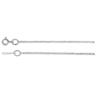 14kt White 01.50 mm 18.00 Inch Solid Rolo Chain