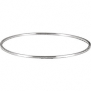 Sterling Silver 01.75 mm 08.00 Inch Bangle Bracelet