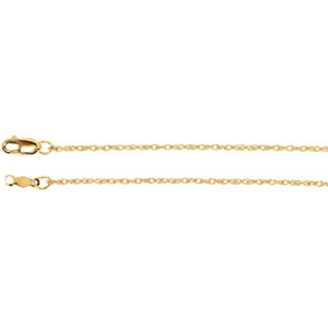 14kt Rose 20 INCH Polished LASERED TITAN ROPE CHAIN. Price: $207.65