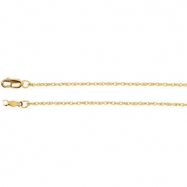 14kt Rose 16 INCH Polished LASERED TITAN ROPE CHAIN
