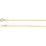 14kt White 24 INCH Polished LASERED TITAN GOLD CABLE CHAIN