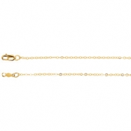 14kt White 16 INCH Polished LASERED TITAN GOLD CABLE CHAIN