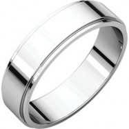 Platinum 05.00 mm Flat Edge Band