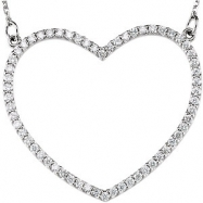 14kt Rose Diamond 14.45X16.55 mm 1/4 CTW Diamond Heart Necklace