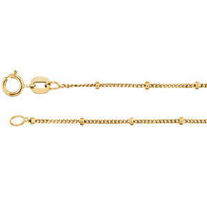 14kt Rose Bulk By Inch Beaded Curb Chain. Price: $14.83