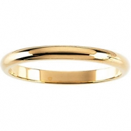 14kt Rose 01.50 mm Half Round Band