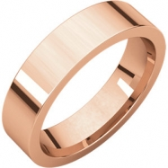 14kt Rose 05.00 mm Flat Comfort Fit Band
