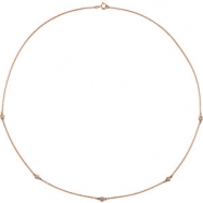 14kt Rose Complete with Stone Diamond 1/4 CTW 18.00 Inch 1/4 CTW Diamond Necklace