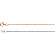 14kt Rose 18.00 INCH Polished SOLID CABLE CHAIN