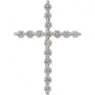 14kt Yellow Complete with Stone .50 CT TW Diamond Cross Pendant