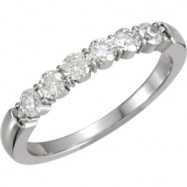 14kt White Band Complete with Stone ROUND 02.80 MM Diamond Polished 1/2CTW DIA ETERNITY BAND