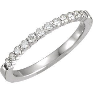14kt White Band Complete with Stone ROUND 01.70 MM Diamond Polished 1/4CTW DIA ANNIVERSARY BAND. Price: $929.50