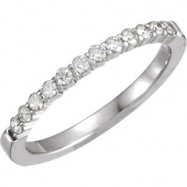 14kt White Band Complete with Stone ROUND 01.70 MM Diamond Polished 1/4CTW DIA ANNIVERSARY BAND
