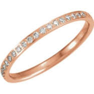 14kt Rose 06.00 Polished 1/4 CTW Diamond Eternity Band