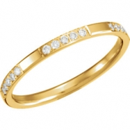 14kt Yellow 06.00 1/6CTW DIAMOND ETERNITY BAND
