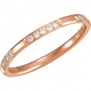 14kt Rose 06.00 1/6CTW DIAMOND ETERNITY BAND