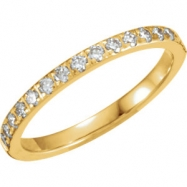 14kt Yellow 06.00 Polished 1/3 CTW Diamond Eternity Band