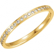 14kt Yellow 06.00 Polished 3/8 CTW Diamond Eternity Band