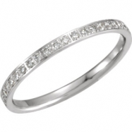 14kt White 06.00 Polished 3/8 CTW Diamond Eternity Band