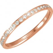 14kt Rose 06.00 Polished 3/8 CTW Diamond Eternity Band