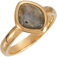 18kt Yellow Vermeil Ring Complete with Stone NONE 08.00 ORGANIC 10.00X08.00X05.00 MM LABRADORITE Pol