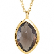 18kt Yellow Vermeil NECKLACE Complete with Stone ORGANIC AND ROUND VARIOUS SMOKY QUARTZ,LABRADOR,MOO