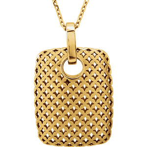 """14kt Yellow NECKLACE Complete No Stone 24.00X15.60 MM Polished 18"""" METAL FASHION NECKLACE. Price: $521.37"""