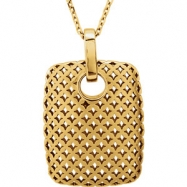 """14kt Yellow NECKLACE Complete No Stone 24.00X15.60 MM Polished 18"""" METAL FASHION NECKLACE"""