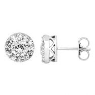 14kt White Complete with Stone Diamond 1 1/3 NONE I/ I2 NONE NONE NONE Pair Polished DIAMOND EARRING