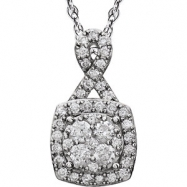 14kt White 3/4 CTW Diamond Necklace