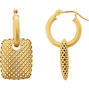 14kt Yellow EARRING Complete No Setting NONE Pair Polished METAL FASHION EARRINGS. Price: $457.57