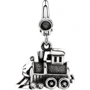 Sterling Silver CHARM Complete No Setting 16.00X12.00 MM Polished TRAIN CHARM