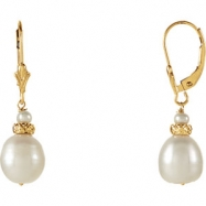 EARRING NONE VARIOUS VARIOUS PEARL NONE Complete with Stone 14kt Yellow Polished FRSHWTR CULTURED PR