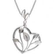 """14kt White NECKLACE Complete with Stone 18.00 INCH ROUND VARIOUS Diamond Polished .05CTW DIAMOND 18"""""""