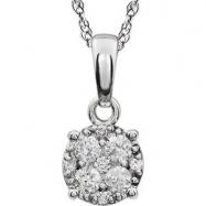 14kt White 1/3 Diamond Necklace