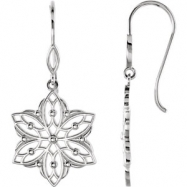 Sterling Silver EARRING Complete No Setting NONE Pair Polished METAL FASHION EARRINGS