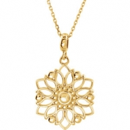 """14kt Yellow NECKLACE Complete No Setting 26.00X18.00 MM Polished 18"""" PRECIOUS METAL FASH NECKLA"""