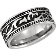 Cobalt 10.00 08.50 MM POLISHED CASTED BAND