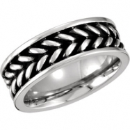 Cobalt 10.00 08.00 MM POLISHED CASTED BAND