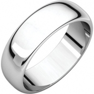 Continuum Sterling Silver 06.00 mm Half Round Band