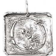 Sterling Silver O Polished POSH VINTAGE INITIAL PENDANT