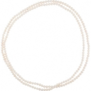 NECKLACE Complete with Stone 72.00 INCH ROUND 08.00-09.00 MM PEARL Polished FRSHWTR CUL WHITE PRL RO