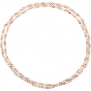 NECKLACE Complete with Stone 72.00 INCH ROUND 08.00-09.00 MM PEARL Polished FRSHWTR CUL MULTI PRL RO