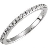 Platinum Band Complete with Stone SI2-SI3 Round 01.30 MM Diamond Polished 1/4CTW DIA MATCHING BAND