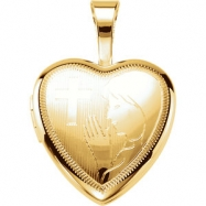 Gold Plated Sterling Pendant Complete No Setting 12.50X12.00 MM Polished PRAYER LOCKET