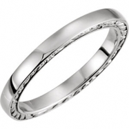 14kt White Band Mounting 05.00 NONE NO STONE NO STONE NONE Polished RING MOUNTING